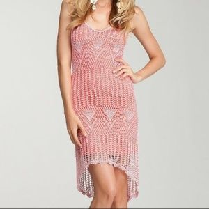 NWT bebe Tiger Princess Marled Crochet Dress XS